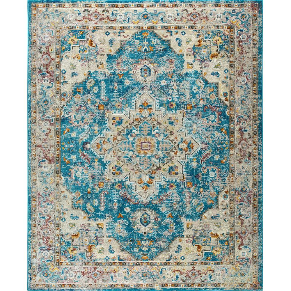 Nicole Miller Parlin Aqua Teal Gray 9 Ft 2 In X 12 5 Indoor Area Rug 10 M656a 676 The Home Depot