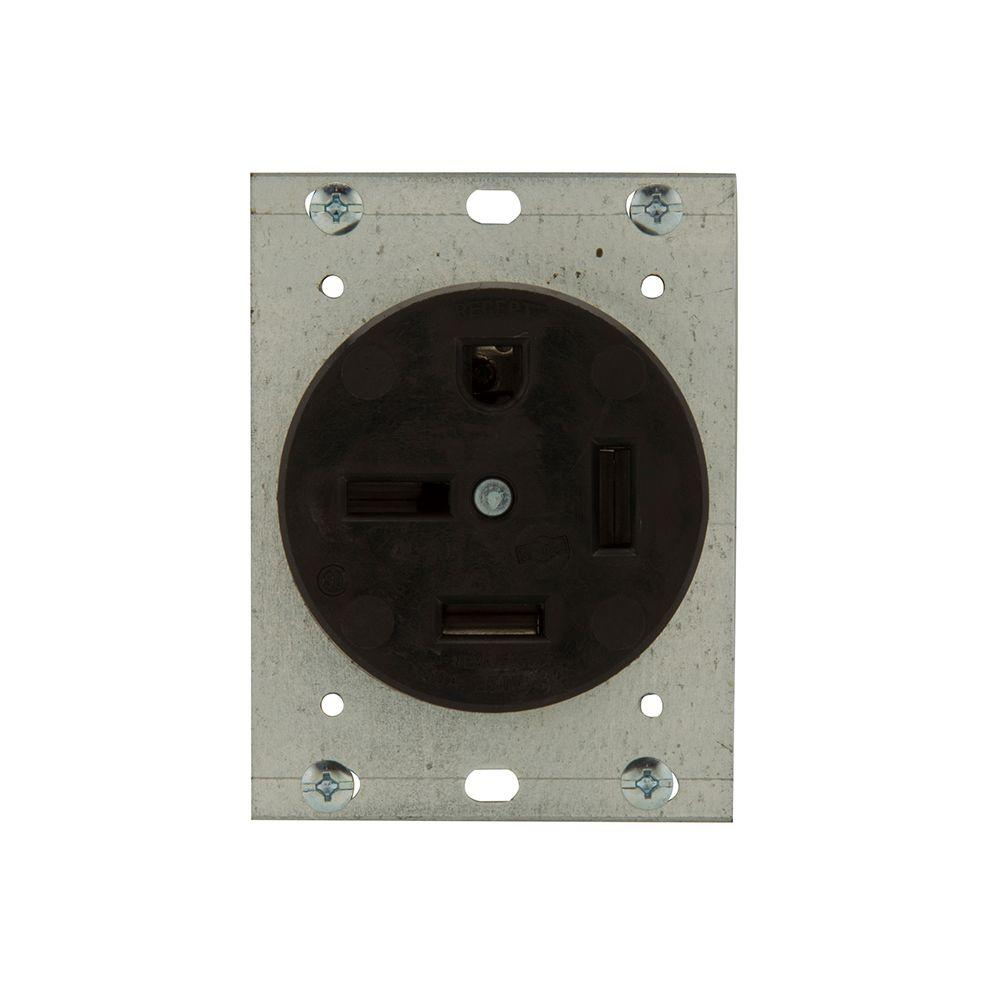 50 Amp Receptacle >> Eaton 50 Amp 250 Volt 15 50 3 Pole 4 Wire Power Receptacle