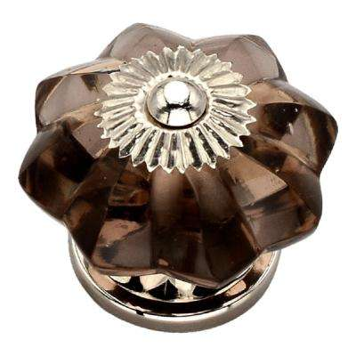 1-2/3 in. Merlot Flower Novelty Cabinet Knob