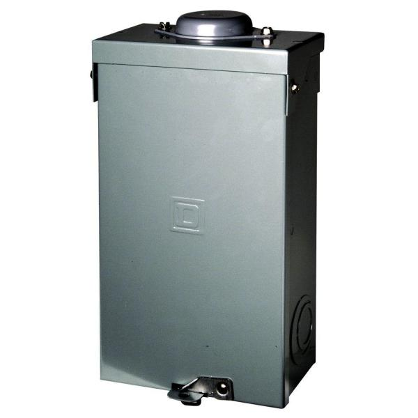 QO 100 Amp 2-Pole Outdoor Circuit Breaker Enclosure with QO2100 Breaker Included