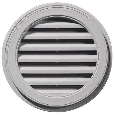 22 in. Round Gable Vent in Gray