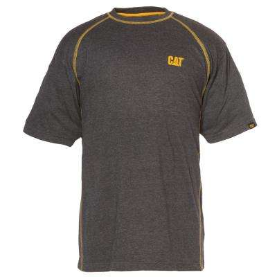 Performance Men's Large Charcoal Heather Cotton/Polyester Short Sleeved T-Shirt