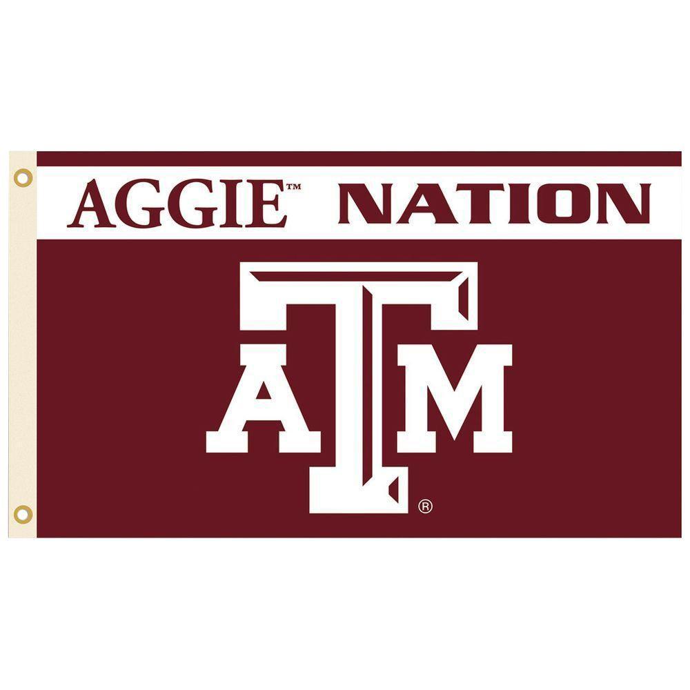 Texas A/&M aTm Helmet Flag One Sided NCAA 3/' x 5/' Licensed