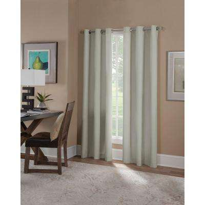 Semi-Opaque Linen Microfiber Grommet Curtain (1 Panel)