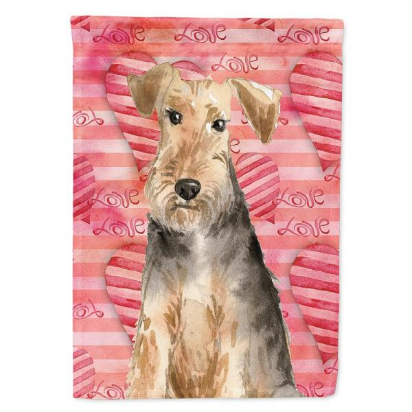 Caroline S Treasures 28 In X 40 In Polyester Love A Welsh Terrier Flag Canvas House Size 2 Sided Heavyweight Ck1747chf The Home Depot