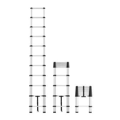 14 ft. Telescopic Aluminum Pinch-Free Extension Ladder with 300 lb. Load Capacity Type IA Duty rating