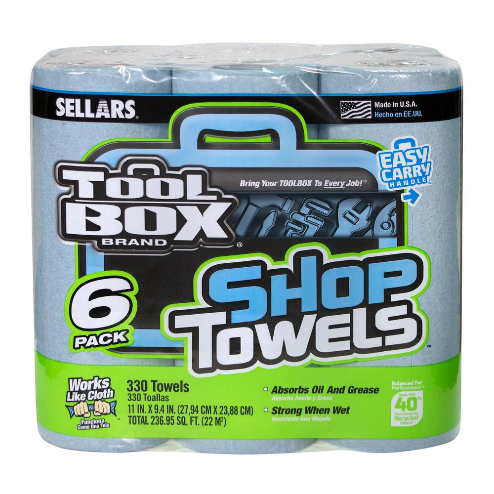 TOOLBOX 55-Count Shop Towel Roll (6-Pack)
