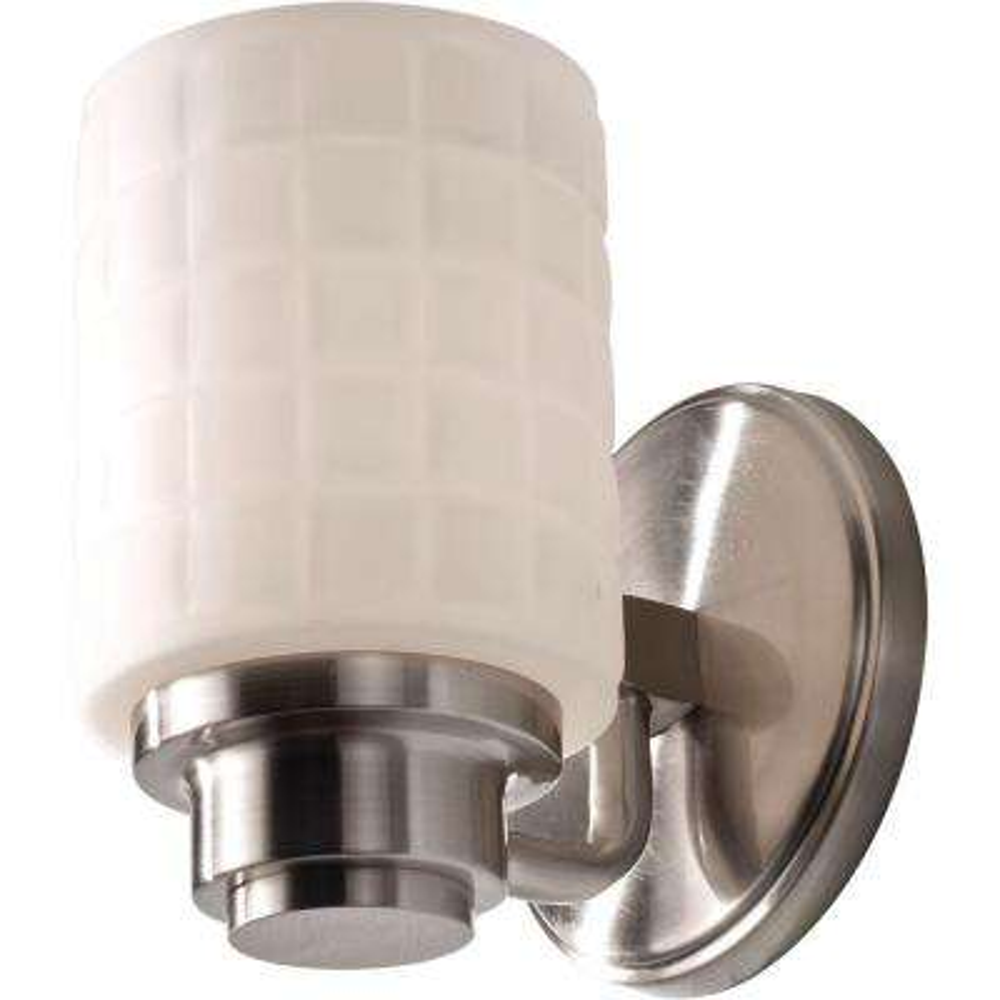 Wadsworth 1-Light Brushed Steel Vanity Light
