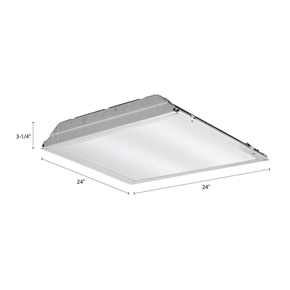 Lithonia Lighting 20 -Watt Matte White Integrated LED Lay-in Troffer 2 ft.  x 2 ft. Prismatic Lens-2GTL2 A12 MVOLT - The Home DepotThe Home Depot