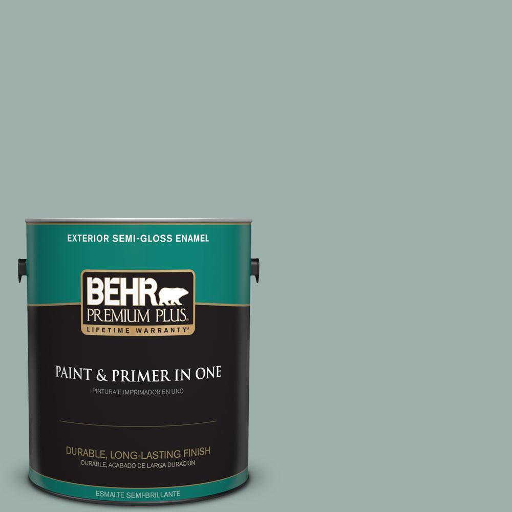 Behr Premium Plus 1 Gal 490f 4 Gray Morning Semi Gloss Enamel