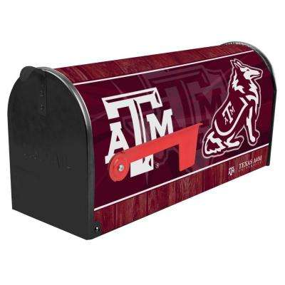 Red Post Mount Texas A and M University Mailbox