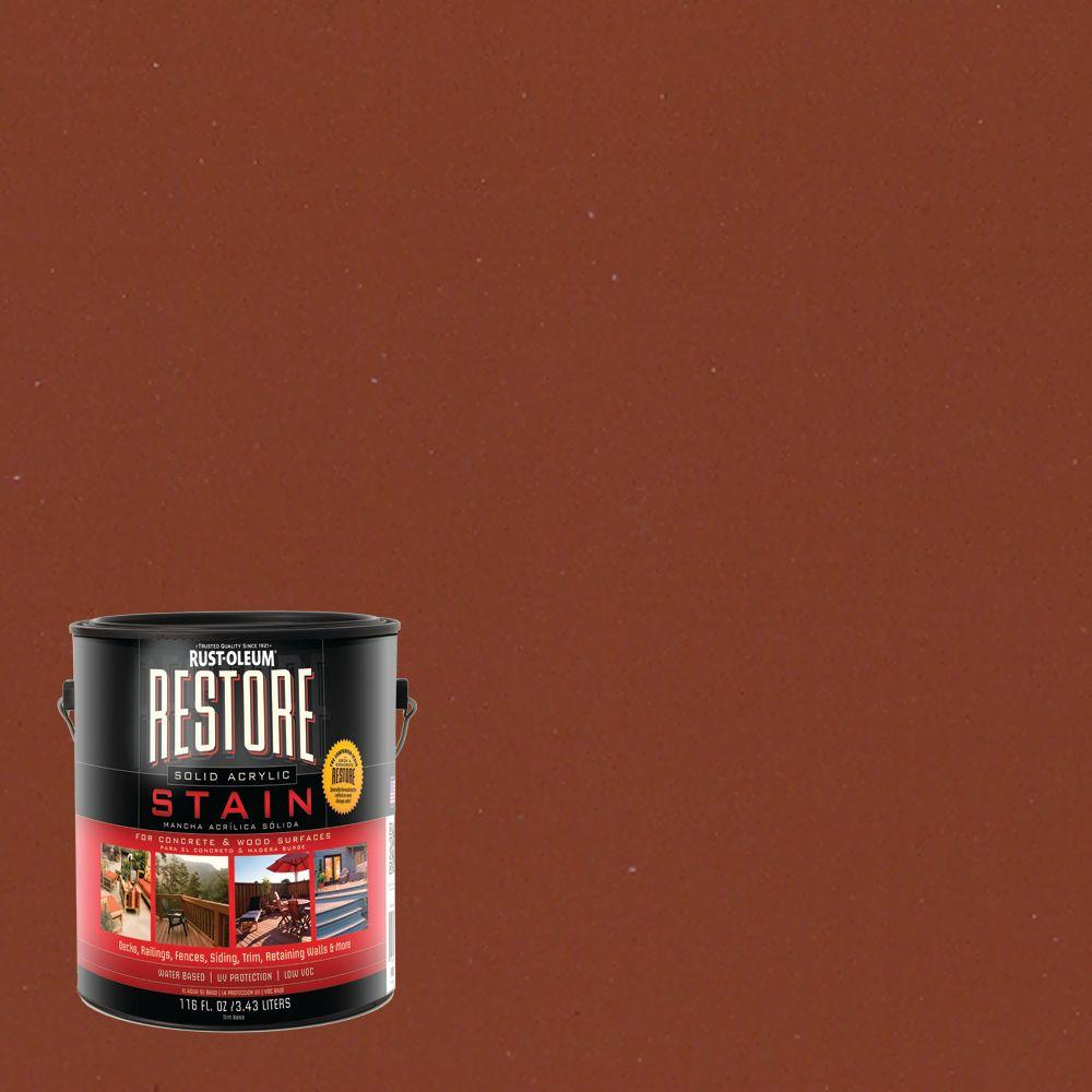 1 gal. Solid Acrylic Water Based California Rustic Exterior Stain