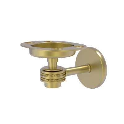 Satellite Orbit 1-Tumbler and Toothbrush Holder with Dotted Accents in Satin Brass