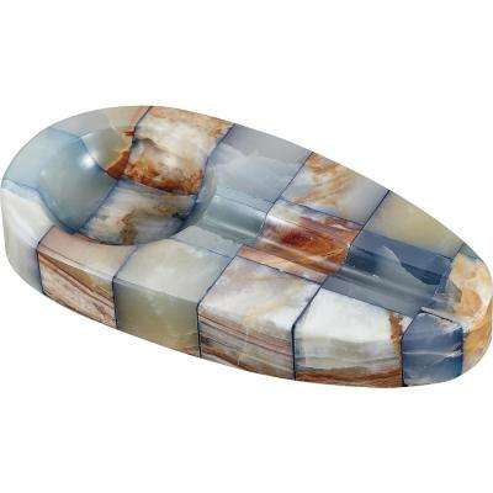 Azurra Onyx Stone Oval Cigar Ashtray