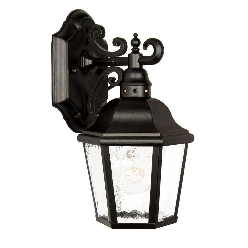 Acclaim Lighting Beaufort Collection Wall-Mount 1-Light Outdoor Matte Black Light Fixture