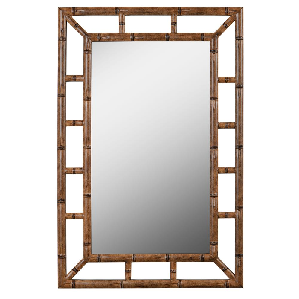 Kenroy Home Aviary 26 in. x 40 in. Bronze Framed Wall Mirror-60226 ...