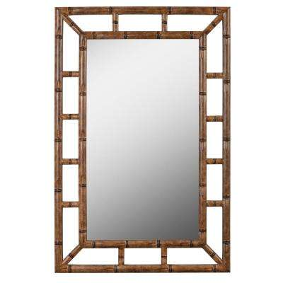 Aviary 26 in. x 40 in. Bronze Framed Wall Mirror
