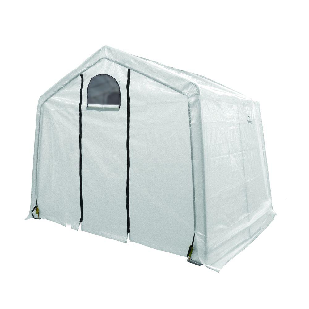 ShelterLogic GrowIt 10 ft. x 10 ft. x 8 ft. Peak-Style Translucent Cover Greenhouse-DISCONTINUED