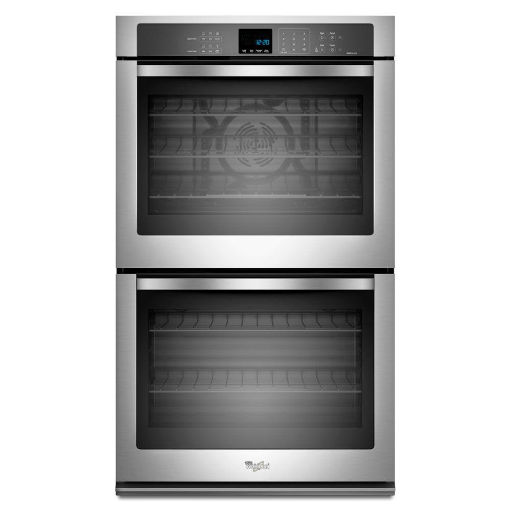 whirlpool gold 27 in double electric wall oven self cleaning with convection in stainless steel. Black Bedroom Furniture Sets. Home Design Ideas