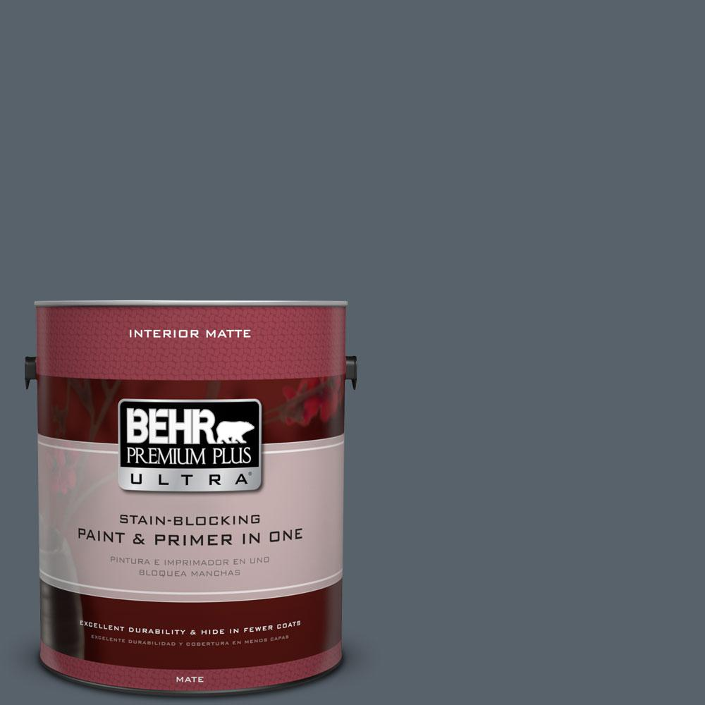 BEHR Premium Plus Ultra 1 gal. #N490-6 Calligraphy Matte Interior Paint
