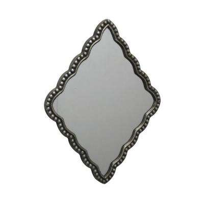 18 in. Three Hands Black Resin Frame Mirror
