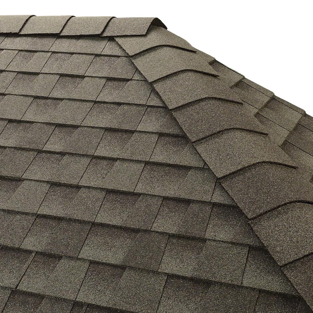GAF Timbertex Slate Hip and Ridge Shingles (20 linear ft  per Bundle)