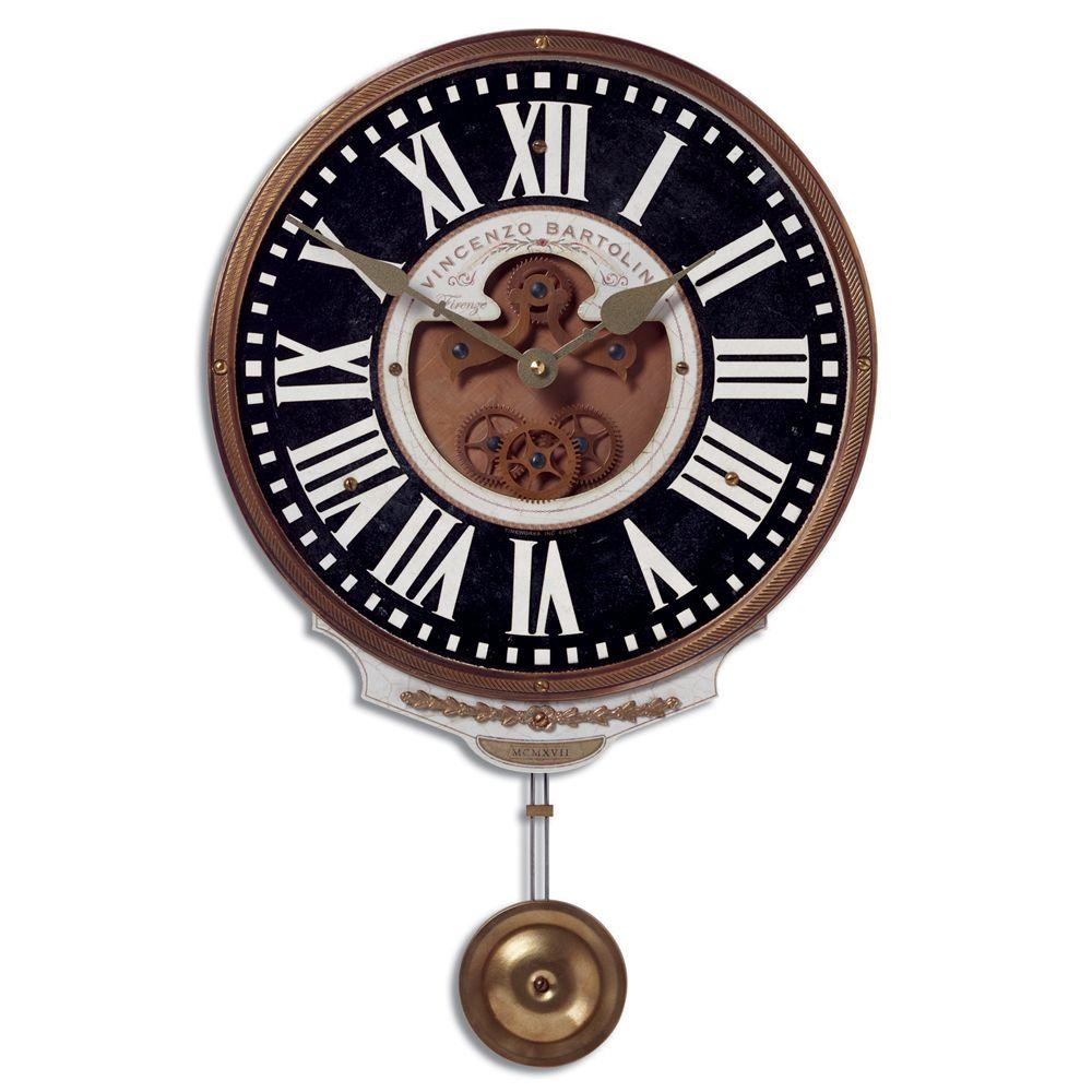 Global Direct Black Antique Reproduction Wall Clock-DISCONTINUED