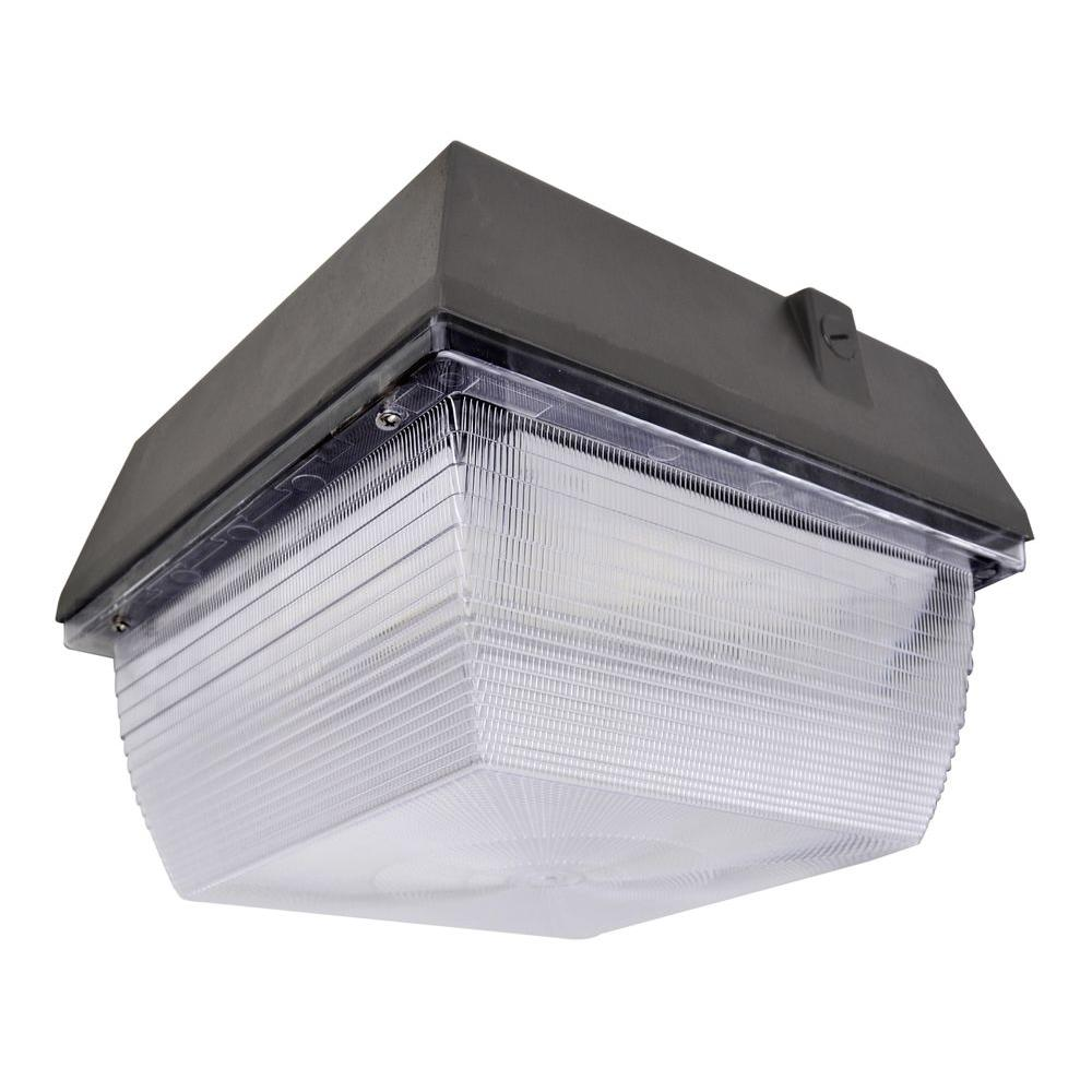 ATG Electronics 40-Watt Outdoor Black LED Canopy Light ...