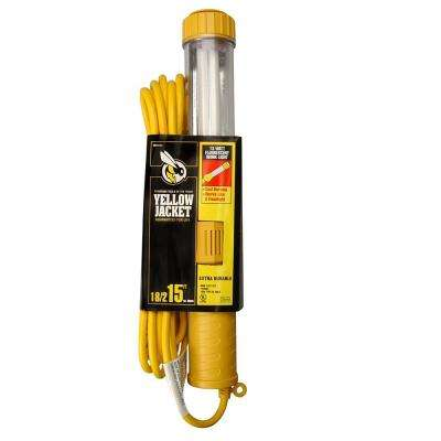 13-Watt 15 ft. 18/2 SJTW Fluorescent Portable Trouble Work Light with Hanging Hook