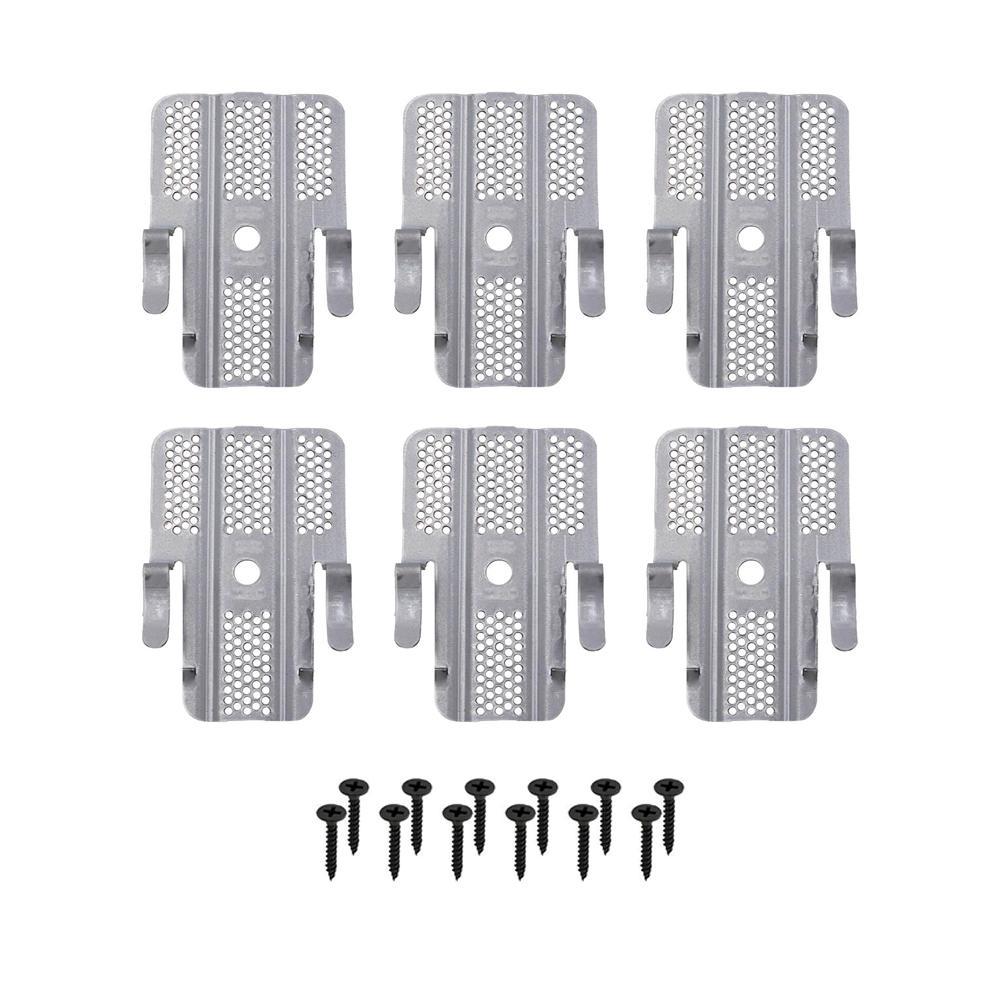 3 in. x 2 in. Steel Drywall Repair Clip (6-Pack)