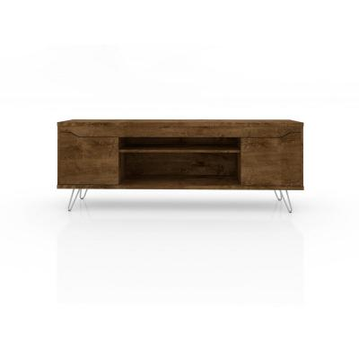 Baxter 62.99 in. Rustic Brown 4-Shelf TV Stand
