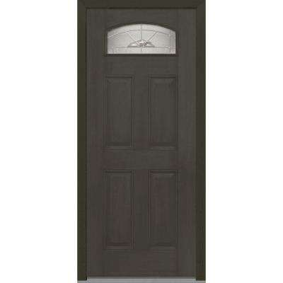exterior doors for home. 32 in  x 80 Master Nouveau Right Hand 1 4 Lite Front Doors Exterior The Home Depot