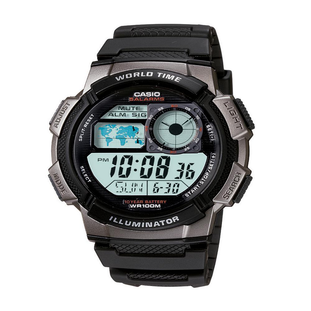 Black World Time Illuminator Watch