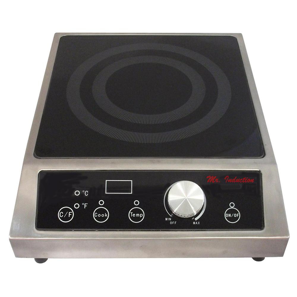 Great Countertop Electric Cooktop In Black With 1 Element SR 652C   The Home Depot