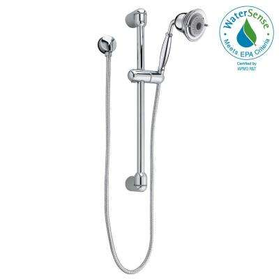 FloWise Traditional 3-Spray Wall Bar Shower Kit in Polished Chrome