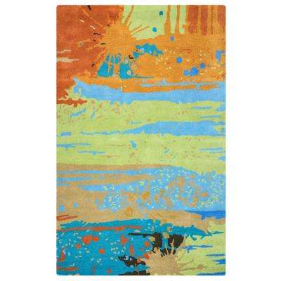 Volare Multi Color Abstract Hand Tufted Wool 2 ft. x 3 ft. Accent Rug