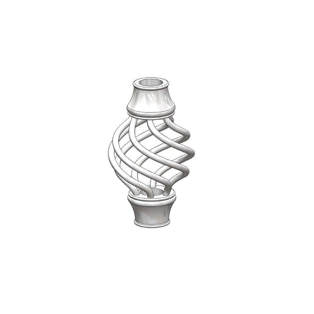 2-1/2 in. x 4-1/2 in. Aluminum White Basket Round Baluster Collar