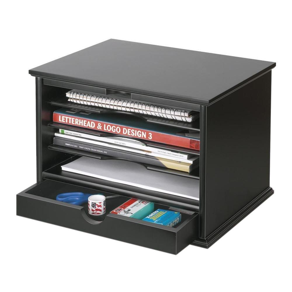 Victor 4 Shelf Desktop Organizer Black 4720 5 The Home