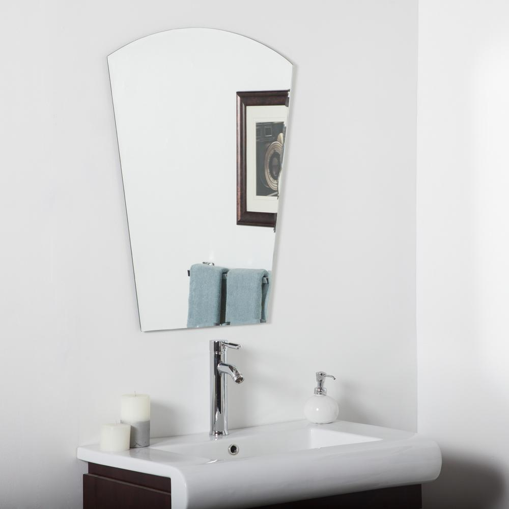Decor Wonderland 31 5 In X 23 6 In Arched Rectangle Paris Modern Bathroom Mirror With Beveled Edge Dwsm3005 The Home Depot