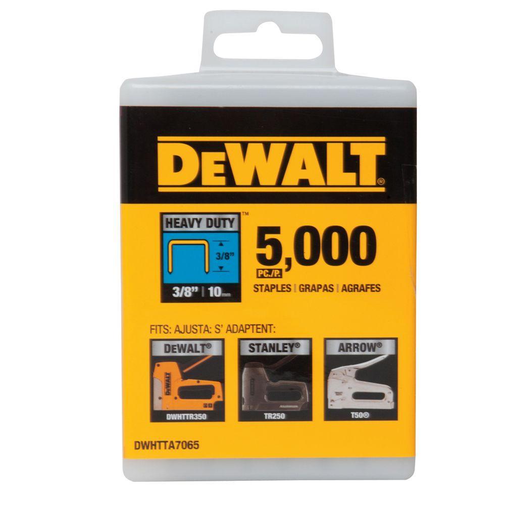 Dewalt 3/8 inch Heavy Duty Staples (5000-Pack) by DEWALT