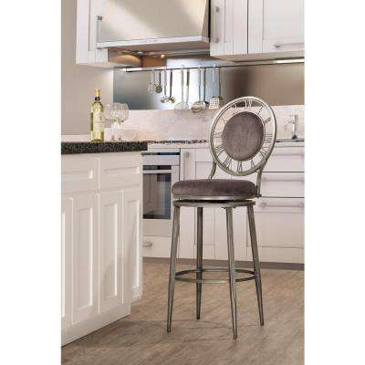 Big Ben 26 in. Pewter Swivel Cushioned Bar Stool