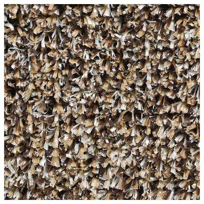 Carpet Sample - Mainstream - Color Almond Artificial Grass 8 in. x 8 in.