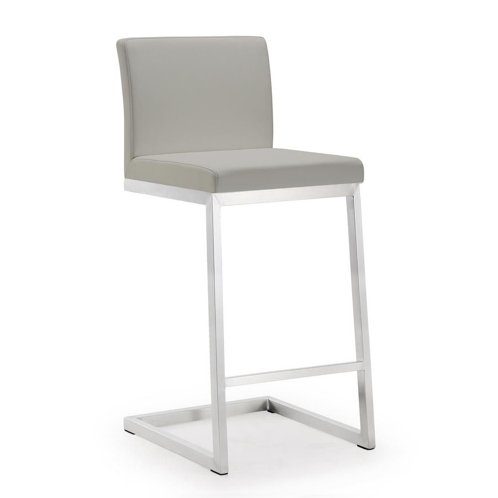 TOV Furniture 26 In. Parma Light Grey Steel Counter Stool (Set Of 2)