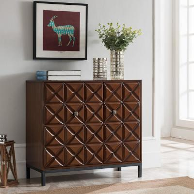 Warren Dark Tobacco Double Door Accent Cabinet
