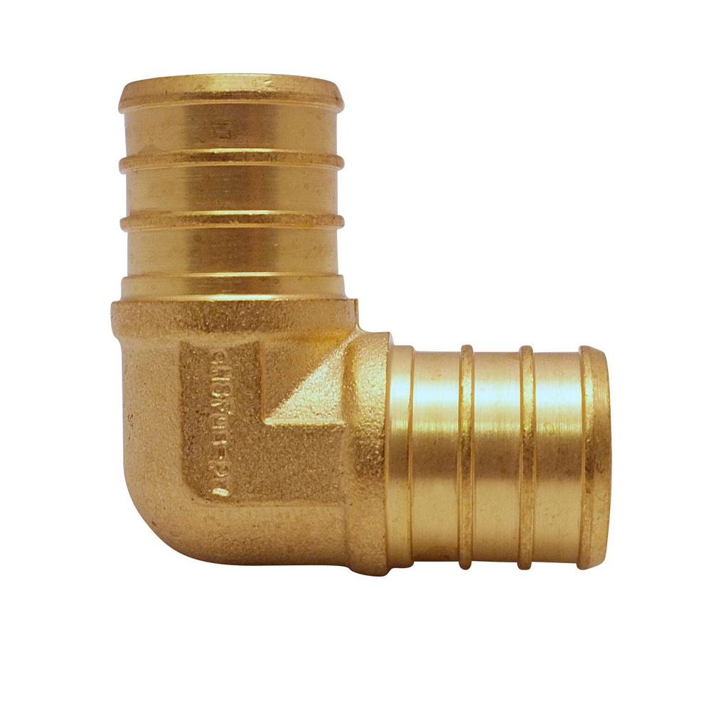 3/4 in. Brass PEX Barb 90° Elbow (10-Pack)