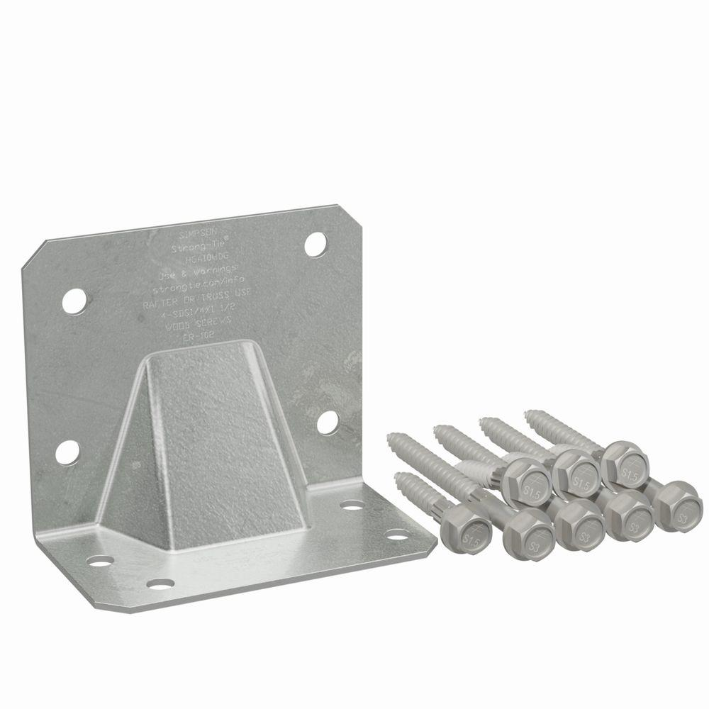 Hot-Dip Galvanized Hurricane Tie with Screw (10-Pack)