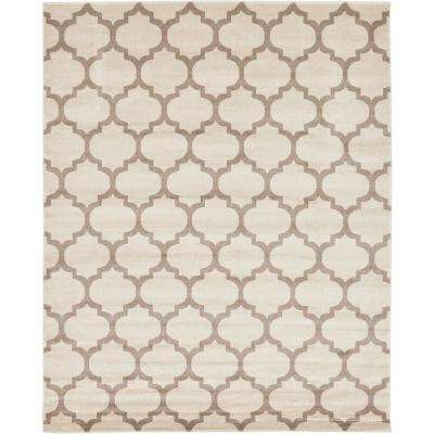 Trellis Philadelphia Beige/Light Brown 8' 0 x 10' 0 Area Rug