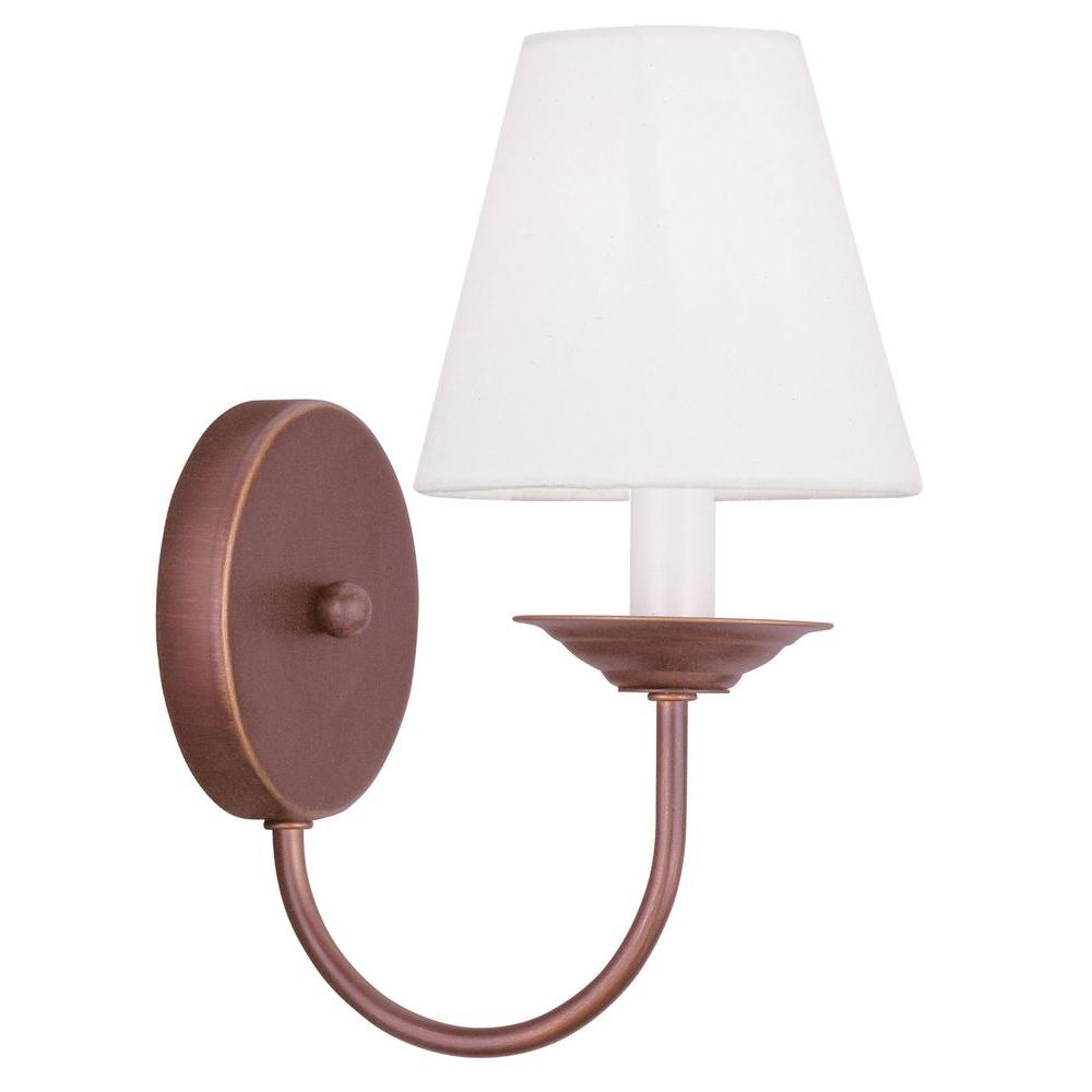 Livex Lighting Providence 1-Light Vintage Bronze Incandescent Wall Sconce