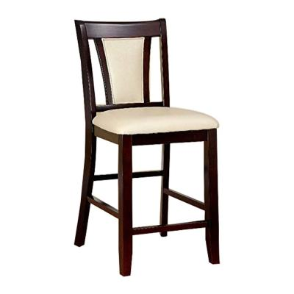Brent II Counter Ht. Chair in Dark Cherry finish