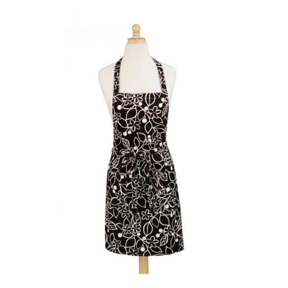 Graphic Floral Modern Print Cotton Apron